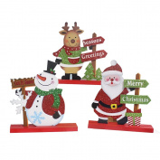 Ailina 3 Pieces Christmas Table Decoration Snowman Christmas Santa Claus Elk Doll Set Furnishing Articles Holiday Display
