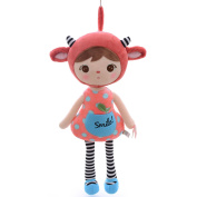 Metoo JIBAO Stuffed Red Sheep Girl Kids Plush Toys Baby Birthday Gifts 41cm