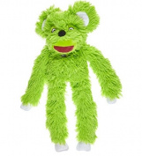 Doudou et Compagnie - Cuddly and Soft Toys Plush Hand Puppet - Piloo Piloo Mouse - Oh. Studio Collection - Fluorescent Green - 56 cm - Type