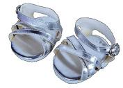 "Silver Shine"" Sandals w/Buckle clothes fits 20cm - 25cm Stuffed Animal kits & Teddy Bears, Dolls"