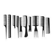 ZTSY 10pcs Professional Salon Hair Styling Hairdressing Hairdresser Barbers Combs Set