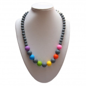 HimanJie Silicone Teething Nursing Necklace for Mom Baby - BPA free - Latex Free