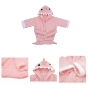 Per Soft Cotton Baby Hooded Bath Towel with Cute Shark Design, Perfect For Baby Shower - Newborn & Toddler Size