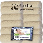 12 BODY WRAP CONTOURING HIGH STRECH CREPE BANDAGES 15cm x 4.5m ALEO VERA PACK TO TRY
