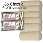 FREE sauna foil body wraps 6 CONTOURING BODY WRAP CREPE BANDAGES 15cm x 4.5m