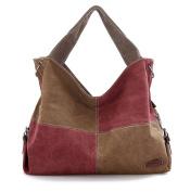 DATO Retro Women's Canvas Tote Bags Handbags Multifunction Fashion Hobos Shoulder Bags Casual Cross Body Top Handle Bags for Women