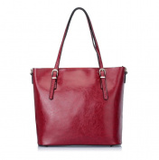 Women's Leather Tote Handbags Purse Fashion Shoulder Bag , wine red