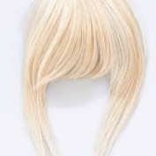 Love Hair Extensions Clip in Fringes Thermofibre Hair - Cleopatra - Pure Blonde