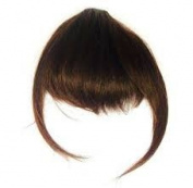 Love Hair Extensions Clip in Fringes Thermofibre Hair - Cleopatra - Medium Ash Brown
