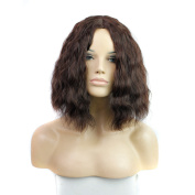 Royalvirgin ynthetic Brown Short Bob Wig Curly Wave For Party Cheap Price Bob Cut Wig Synthetic Hair Extensions For Black Woman