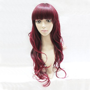 Models in Europe and America Carved heat resistant Long Wavy Brown Hair Women Wigs Simulation of Human Hair
