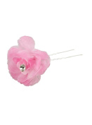 Pic hair with flower fabric 4 cm Diameter Wedding Ceremony - Stored Product and Dispatched Quickly from France