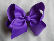 BFab 15cm Big Hair Grosgrain Ribbon Bow with Alligator Clip Pin