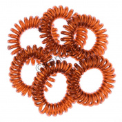 10 Kanddit® Spiral Random Colours Girls Ponytail Stretchy Elastic Bobbles HairBands