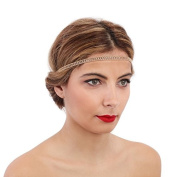 La Modeuse - Headband with 3 chains, Decorated with Rhinestones