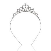 Veewon Crystal Rhinestones Hair Band Delicate Wedding Party Children Flower Girl Crown Headband Tiara