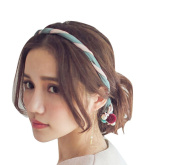 Fashion Women Ladies Colourful Hairband with Pearls Hair Accessory