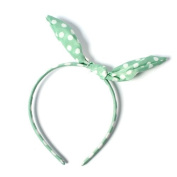 Punk Patented Thin Hair Head Band Bow Mint