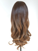 Ladies 3/4 Wig Fall Clip In Hair Piece Extensions Ombre Dip dye