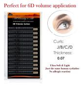 Russian Volume Lashes 3D-6D Individual Eyelash Extensions 0.07 /C- curl