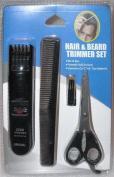 Zoom 4 Piece Hair & Beard Trimmer Kit