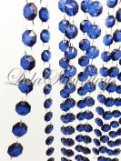 LolaSaturdays Acrylic Crystal Garland 0.9m 1 YD Dark Saphire Blue