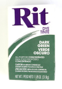 Rit Dye Powder Dye, 30ml, Dark Green, 3-Pack