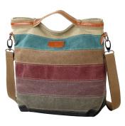 FreeMaster Women's Canvas Multi-Colour Hobos Shoulder Bag Tote Handbag