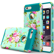 iPhone 7 Case, GreenElec [Peony flower Series] Hybrid Dual Layer Slim Fit Cover with Soft Silicone Interior Bumper Hard Shell PC Back Shockproof for iPhone 7