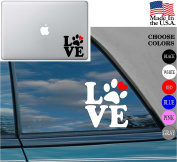 Love Dog PAW HEART Pet Vinyl Decal Sticker for Car Window Laptop