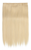 SARLA 60cm Straight 1Pc 3/4 Full Head Clip In Hair Extension Synthetic Hair Extensions Japan Heat Resistant Fibre 50 Colours Available 666