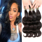 Uneed Hair 8A Grade Brazilian Body Wave Hair 4 Bundles 95-100g/Bundle Remy Human Hair Extension 100% Unprocessed Virgin Human Hair Weave Natural Colour