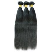 Maoyuan 7A HOT Sell .  Hair Silky Straight Mixed Length Natural Black Colour Virgin Brazilian Straight Human Hair Weft/Weaving 3bundles(150g)