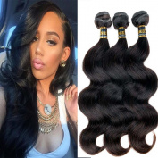 Uneed Hair 8A Grade Brazilian Body Wave Hair 3 Bundles 95-100g/Bundle Remy Human Hair Extension 100% Unprocessed Virgin Human Hair Weave Natural Colour