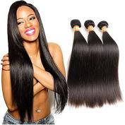 Moxika Hair Products Brazilian Virgin Hair Straight 3 Bundles,8A Grade Brazilian Hair Weave Bundles Brazilian Straight Human Hair