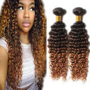 ATOZHair 7A Omber Deep Wave Human Hair Extensions Long Black T 4 T 30 hair 4 Bundles 50G/Bundle 200Gram in total