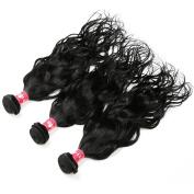 HEBE Peruvian Curly Hair 3 Bundles 7A Unprocessed Peruvian Natural Curly Human Hair Weave Bundles Extension