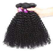 HEBE Peruvian Curly Hair 4 Bundles 7A Unprocessed Kinky Curly Human Hair Extension Bundles