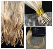 Full Shine 50cm 1g Per Strand 50g Per Package Colour Blonde #613/18 Highlighted Ombre I Tip Extensions Human Hair DIY I Tip Hair Extensions