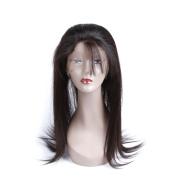 ALLRUN Brazilian Straight 360 Lace Band Frontal Closure with Natural black Virgin Human Hair boundles Human Hair Extensions