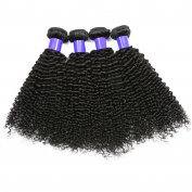 Shacos Kinky Curly Indian Virgin Human Hair Bundles Grade 8A Unprocessed Nature Black Hair Extensions