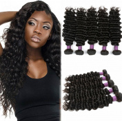 ATOZHair 7A Omber 100% Brazilian Virgin Hair 5 Bundles Unprocessed Extensions Deep Wave Nature Black Human Hair 50G/Bundle