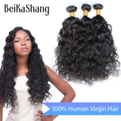 """Beikashang Hair Curly Wave Hair Extension/Weft, 100% Brazilian Virgin Remy Human Hair with Unprocessed Natural Colour 28""""30""""30"""""""