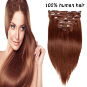 Veravicky Hair Full Head Clip In Virgin Straight Hair Extensions 7pcs 120g