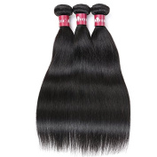 HEBE Peruvian Hair 3 Bundles 7A Unprocessed Peruvian Straight Hair Weave Bundles Extensions Natural Black Colour