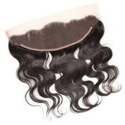 Divalovehair 13x 4 Ear to Ear Lace Frontal Closure Brazilian Virgin Human Hair Body Wave Lace Front Closure with Baby Hair Bleached Knots Natural Colour