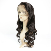 Brazilian Virgin Hair Body Wave 360 Lace Band Frontal Closure with Wig Cap 360 Lace Frontal Natural Colour for Black Women