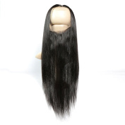 360 Lace Band Frontal Pre Plucked Brazilian Straight Hair 360 Lace Frontal Closure with Natural Hairline for Black Women