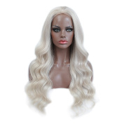 130-150Density 7A 15cm Blonde Lace Front Human Hair Body Wave Wigs With Baby Hair Ombre Lightest Blonde Wigs
