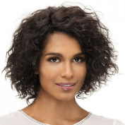 SmartFactory Short Natural Black Explosion Curly Human Hair Short Wig For Wowen Cosplay